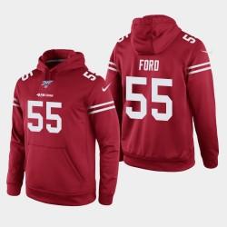 Männer San Francisco 49ers und 55 Dee Ford 100. Season Spiel Hoodie - Scarlet