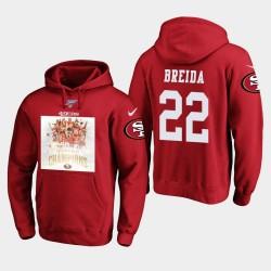 Männer San Francisco 49ers Matt Breida 2019 NFC West Champions PulloverHoodie - Scarlet