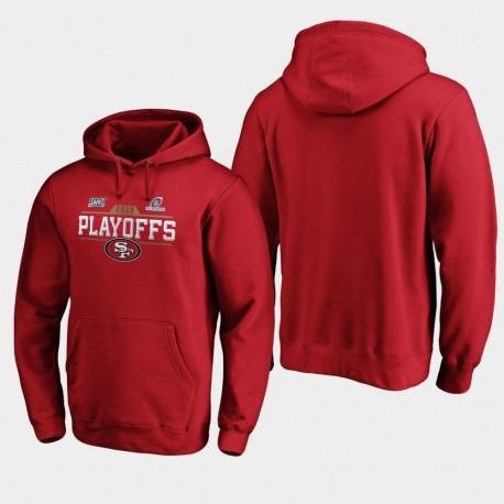 Männer San Francisco 49ers 2019 NFL Playoffs Bound Chip Schuss PulloverHoodie - Scarlet