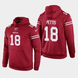 Männer San Francisco 49ers und 18 Dante Pettis 100. Season Spiel Hoodie - Scarlet