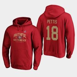 Männer San Francisco 49ers Dante Pettis 2019 NFL Playoffs Heimatstadt Checkdown PulloverHoodie Bound - Scarlet