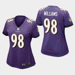 Frauen Baltimore Ravens # 98 Brandon Williams Spiel Trikot - Purple