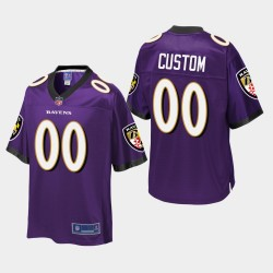 Jugend Baltimore Ravens # 00 Pro-Line-Trikot - Purple
