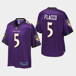 Jugend Baltimore Ravens # 5 Joe Flacco Pro Line Trikot - Purple