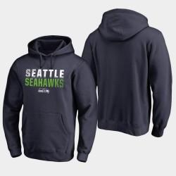 Männer Seattle Seahawks Iconic Abblenden PulloverHoodie - Uni-Navy