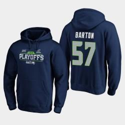 Männer Seattle Seahawks Cody Barton 2019 NFL Playoffs Bound Chip Schuss PulloverHoodie - Uni-Navy