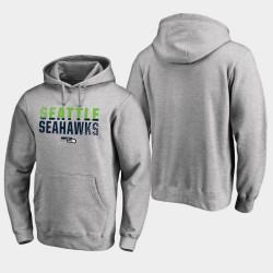 Männer Seattle Seahawks Iconic Abblenden PulloverHoodie - Ash