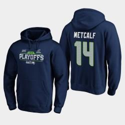 Männer Seattle Seahawks D. K. Metcalf 2019 NFL Playoffs Bound Chip Schuss PulloverHoodie - Uni-Navy