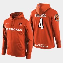 Männer Cincinnati Bengals # 4 Randy Bullock New Season Spieler PulloverHoodie - Orange