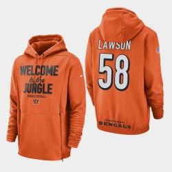 Männer Cincinnati Bengals und 58 Carl Lawson Sideline Lockup PulloverHoodie - Orange