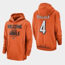 Männer Cincinnati Bengals # 4 Randy Bullock Sideline Lockup PulloverHoodie - Orange