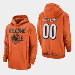 Männer Cincinnati Bengals # 00 Individuelle Sideline Lockup PulloverHoodie - Orange