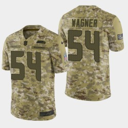 Männer Seattle Seahawks und 54 Bobby Wagner 2018 Salute to Service Limited Jersey - Camo