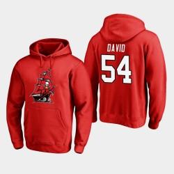 Männer Tampa Bay Buccaneers und 54 Lavonte David 2020 Neues Logo PulloverHoodie - Rot