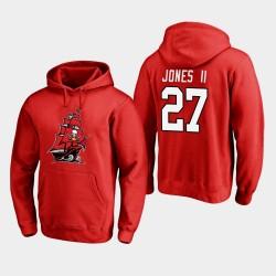 Männer Tampa Bay Buccaneers und 27 Ronald Jones II 2020 New Logo PulloverHoodie - Rot