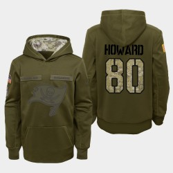 Jugend Tampa Bay Buccaneers und 80 O. J. Howard 2018 Salute To Service Performance PulloverHoodie - Olive