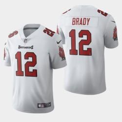Männer Tampa Bay Buccaneers und 12 Tom Brady 2020 Vapor Limited Jersey - Weiß