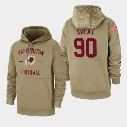 Herren Montez Sweat Washington Redskins 2019 Salute to Service-Sideline Therma PulloverHoodie - Tan