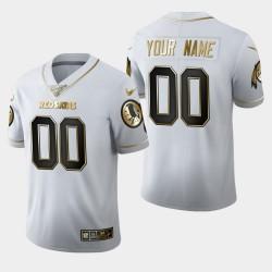 Männer Washington Redskins & 00 Gewohnheit 100. Saison Golden Edition Jersey - Weiß