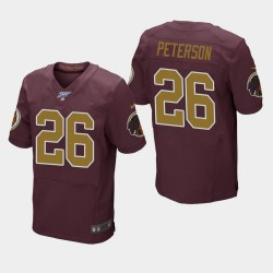 Männer Washington Redskins und 26 Adrian Peterson 100. Saison Throwback Jersey - Burgund