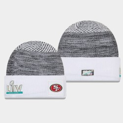 Männer New Era San Francisco 49ers Heather Grey Super Bowl LIV Sideline Cuff Wollmütze