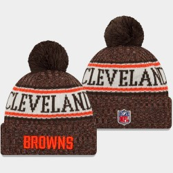 Männer New Era Cleveland Browns Brown 2018 Sideline Cold Weather Sport Wollmütze
