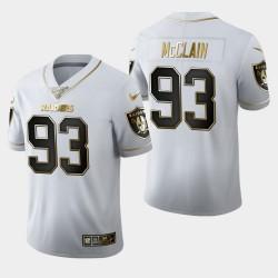 Oakland Raiders Terrell McClain 100. Saison Golden Edition Trikots - Weiß