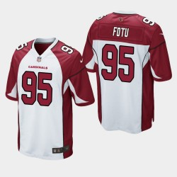 Arizona Cardinals und 95 Leki Fotu Männer 2020 NFL Draft Trikot - Weiss