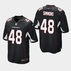 2020 NFL Draft Arizona Cardinals und 48 Isaiah Simmons Alternate Spiel Trikot Herren - Schwarz