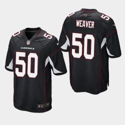 2020 NFL Draft Arizona Cardinals und 50 Evan Weaver Spiel Trikot Männer - Schwarz