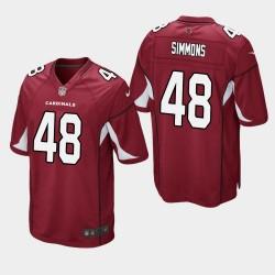 Arizona Cardinals und 48 Isaiah Simmons Männer 2020 NFL Draft Trikot - Kardinal