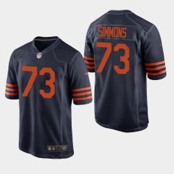 Chicago Bears Lachavious Simmons NFL Draft Throwback Herren Trikot - Marine