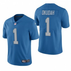 Jeff Okudah Detroit Lions NFL Draft Blau Vapor Limited Jersey