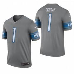 Detroit Lions & 1 Jeff Okudah Stahl NFL Draft Jersey