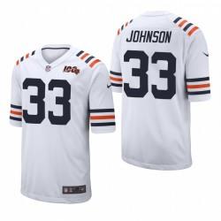 Chicago Bears & 33 Jaylon Johnson Weiß NFL Draft Jersey