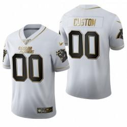 Personalisieren NFL Draft Jersey Panthers Weiß Golden Edition