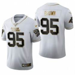 Derrick Brown NFL Draft Jersey Panther Weiß Golden Edition