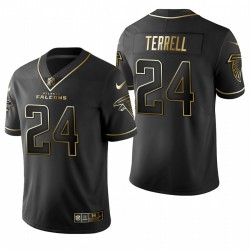 A. J. Terrell NFL Draft Trikot Falcons Schwarz Golden Edition