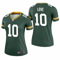 Green Bay Packers und 10 Jordan Love Green NFL Draft Trikot