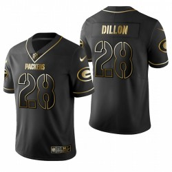 AJ Dillon NFL Draft Trikot Packers Schwarz Golden Edition