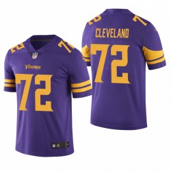 Ezra Cleveland NFL Draft Trikot Minnesota Vikings Lila Farbe Eile Begrenzte