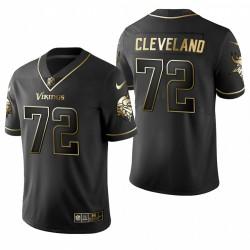 Ezra Cleveland NFL Draft Trikot Vikings Schwarz Golden Edition
