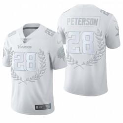 Adrian Peterson NFL MVP Trikot Vikings Weiß Platinum Limited