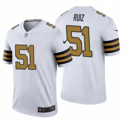 New Orleans Saints & 51 Cesar Ruiz Weiß NFL Draft Trikot