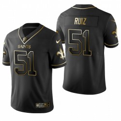 Cesar Ruiz NFL Draft Trikot Saints Schwarz Golden Edition