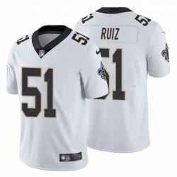 Cesar Ruiz & 51 New Orleans Saints NFL Draft Männer Weiß Trikot