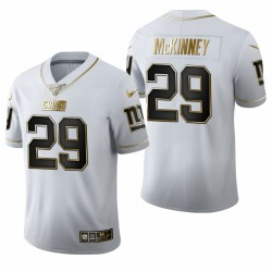 Xavier McKinney NFL Draft Trikot Giants Weiß Golden Edition