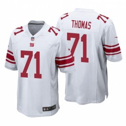 Giants & 71 Andrew Thomas White NFL Draft Pick-Spiel Trikot