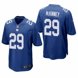New York Giants Xavier McKinney Königlichen NFL Draft Spiel Trikot