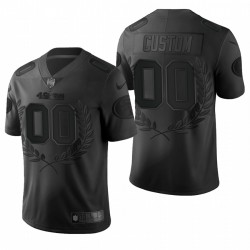 Personalisieren NFL MVP Trikot 49er schwarze begrenzte